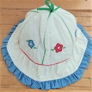 Vintage little girls Flower Hat 18M